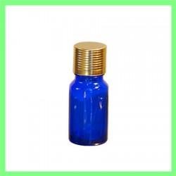 Flacon 10ml bleu bouchon doré