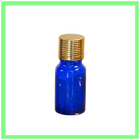Pack flacon 10ml bleu bouchon doré