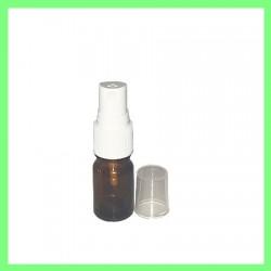 Flacon 5ml brun + vaporisateur noir