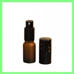 Flacon 10ml Brun brossé + Vaporisateur Noir
