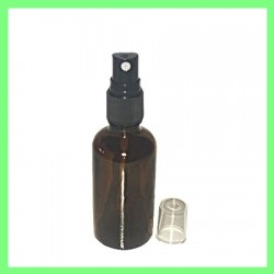 Flacon 50ml Brun + Vapo Noir
