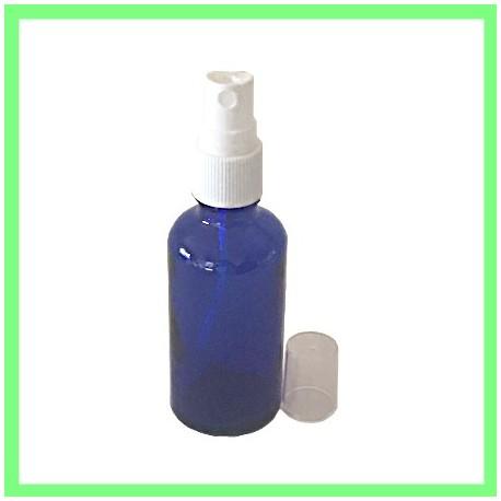 Flacon 50ml Bleu + Vapo Blanc