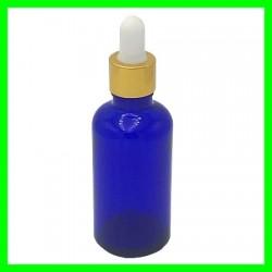 Flacon 50ml Bleu + Pipette dorée