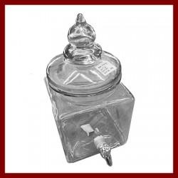 Bonbonne Rhum 4 litres carrée