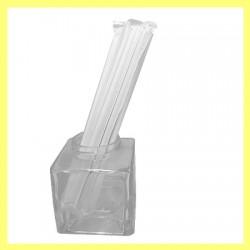 04 Pailles papier blanches individuelles