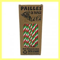 06 Pailles papier drapeau Malgache