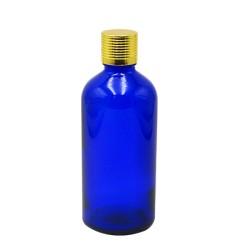 100ml flacon bleu bouchon doré