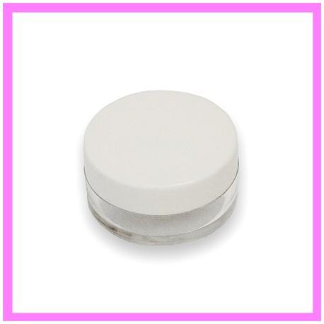 Pot Cosmétique Plastique 10 ml bouchon blanc
