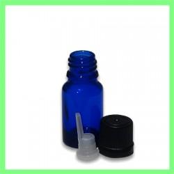 Flacon 10ml bleu bouchon noir