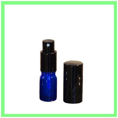 Flacon HE 05ml Bleu Vaporisateur Noir