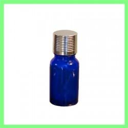 Flacon 10ml bleu bouchon argenté