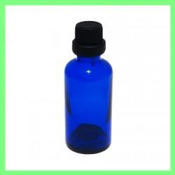 Flacon 50ml bleu bouchon noir