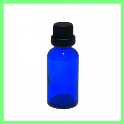 Flacon 30ml bleu bouchon noir