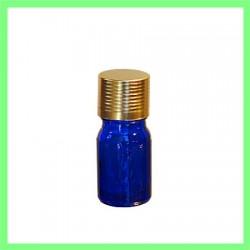 Flacon 05ml bleu bouchon doré