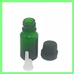 Flacon 10ml vert bouchon noir