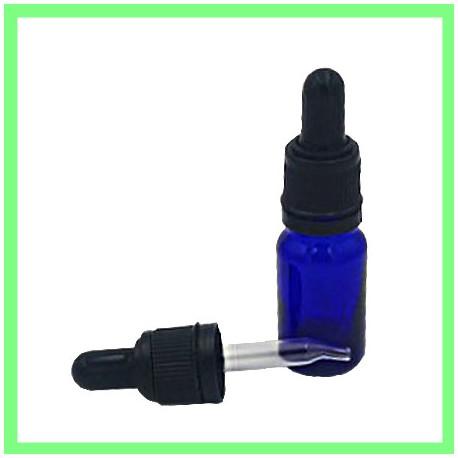 Flacon 10ml Bleu + Pipette noire