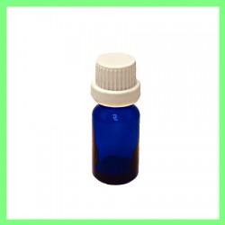 Flacon 10ml bleu bouchon blanc