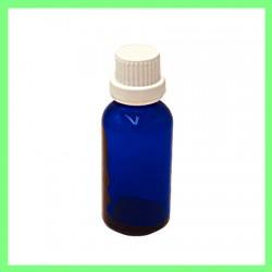 Flacon 30ml bleu bouchon blanc