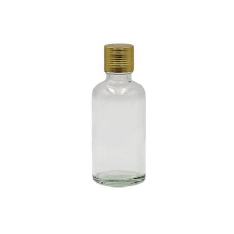 Flacon 50ml transparent bouchon argenté